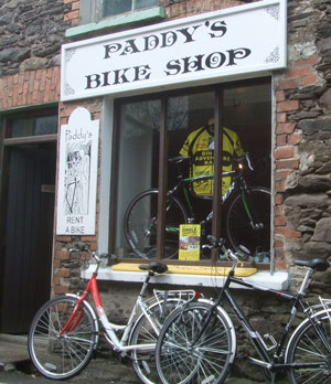 Paddy hires bikes at excellent rates